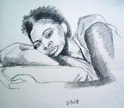 reclining lady