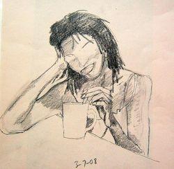 lady stirring coffee