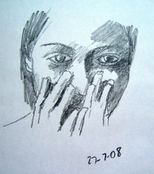 girl with hands to face (august 2008)