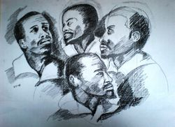 Four heads after Rubens sketch 2 (February 2008)