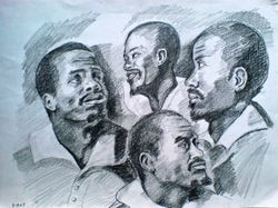 study of four negro heads, after Peter Paul Rubens