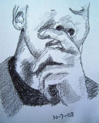 man with hand to face 1