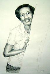 sketch of Lilian Karega, Kigali, Rwanda