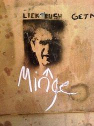George Bush on a wall, Stafford, 2007