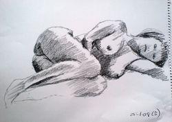 nude lying on side (January 2008)