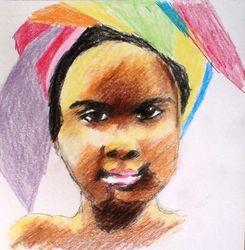 African girl in headdress (November 2010)