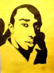 Lee, acrylic 2-tone sketch (October 2010)