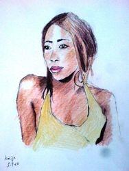 Kadija, crayon sketch (August 2010)