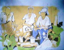 cotton pickers lunch, august 1936, Texas (august 2009)
