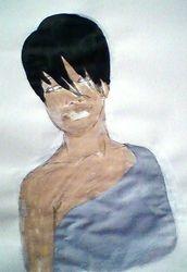 Rihanna, draft paint sketch (september 2009)