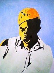 cotton picker 1940s, paint sketch (november 2009)
