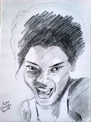 Sketch of Sophie Okonedo, January 2008