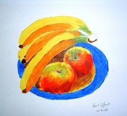 bowl of fruit (acrylic) July 2008