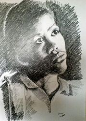 Graphite sketch of Vanessa, USA