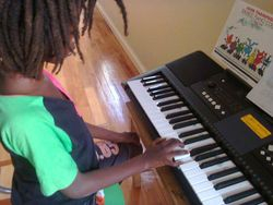 our piano student