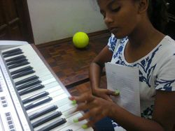 one of our piano students