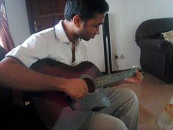 One of our guitar student