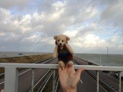 Jimmy aan afsluitdijk Nederland 31/12/2012