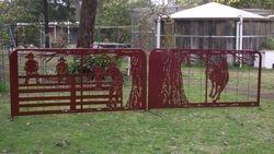 Cowboy family farm gates
