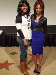 Director/Author Opal Dunlap and I