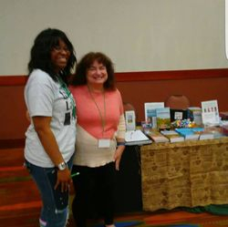 Author Laura Stapleton and I