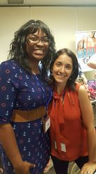 Author Michelle Areaux and I