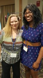 Author A. S. McGowan and I