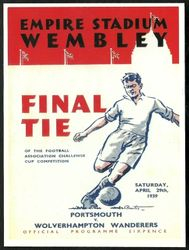 Portsmouth FA Cup FInal Programme Cover 1939