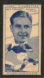 Jack Froggatt 1951