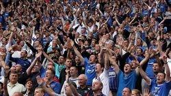 Pompey Fans in full voice