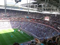 Portsmouth Fans at 2008 FA Cup Semi-Final
