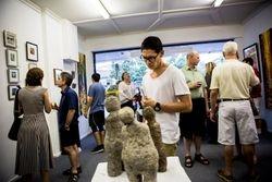 Festivus Crowd, Sculptures by Jenny Wiggans Front