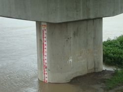 Sulipan Bridge Staff gage