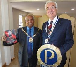 The Mayor Dan Putty and the President Paul Flint