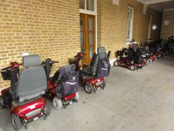 Mobile Transporters Parked