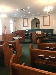 Siloam Baptist Church, pulpit area