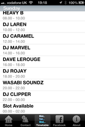 DJ Timetable