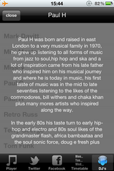 DJ Info page