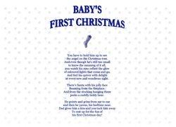Babys First Christmas Boy
