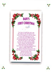 Babys Fisrt Christmas Girl 2