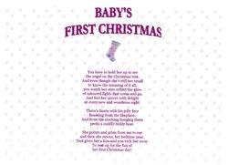 Babys First Christmas Girl