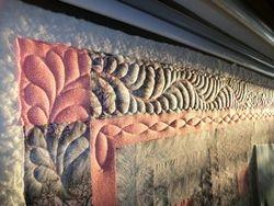Border on Log cabin quilt