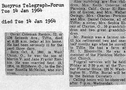 Oscar Coleman Rankin 1891-1964