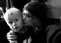 Taylor with her little cousin Dylan