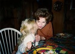 Taylor with her grandma