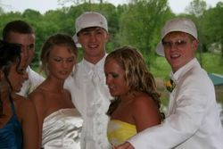 Taylor with her friends at prom
