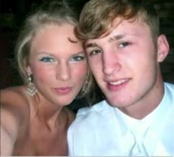 Taylor and her date close up