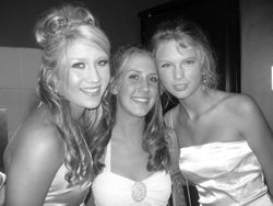 Taylor with some friends at prom