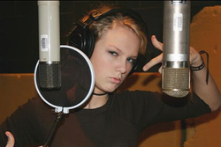 Taylor in the studio 3