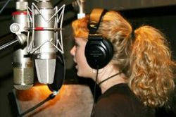 Recording a song 2